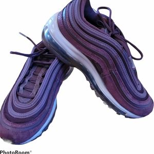 Nike Air Max 97 SE Burgandy Running Shoes Sz 7